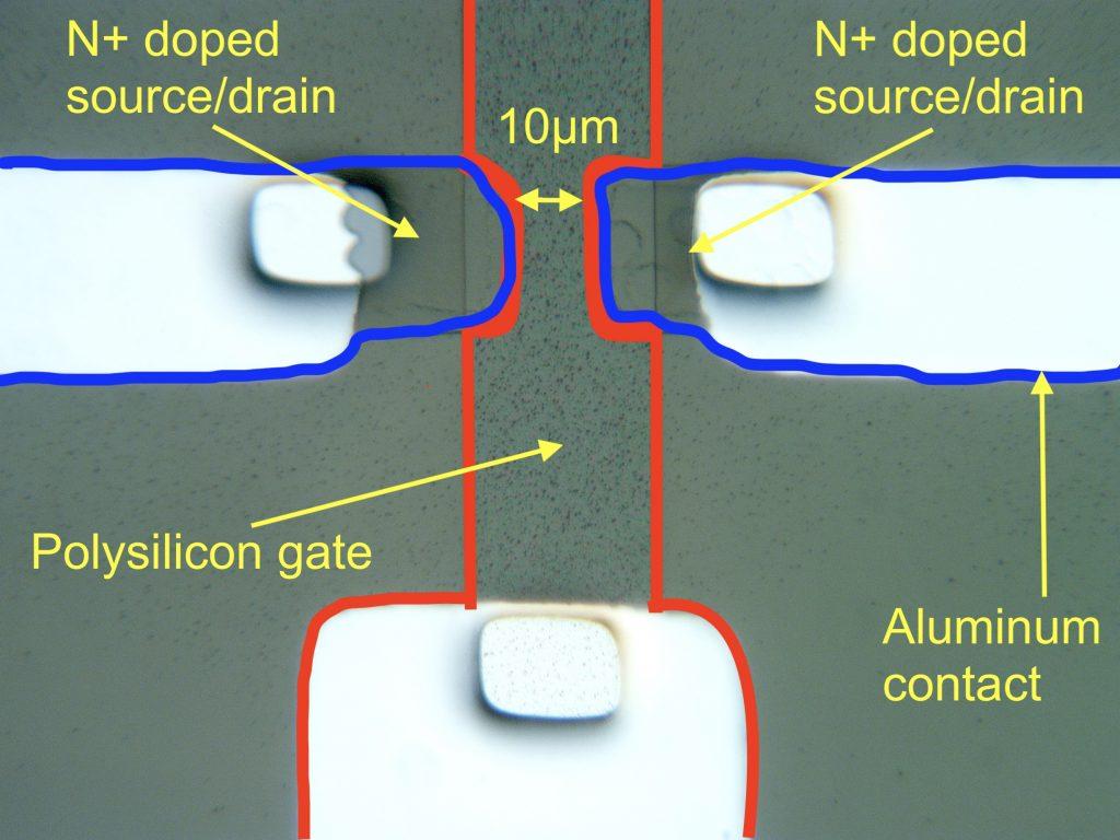 Single NMOS transistor